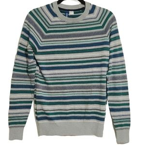Divided By H& M Unisex Striped Crew Neck Sweater